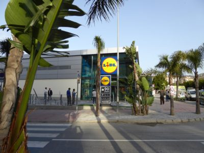 LiDL Almunecar - 1 of 4 large grocery stores or supermarkets in town.