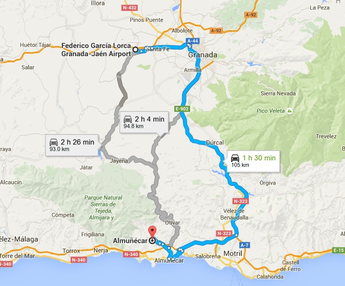 how to get from malaga airport to granada