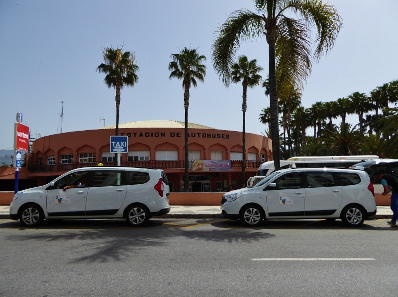 Almunecar Bus station and taxi stand
