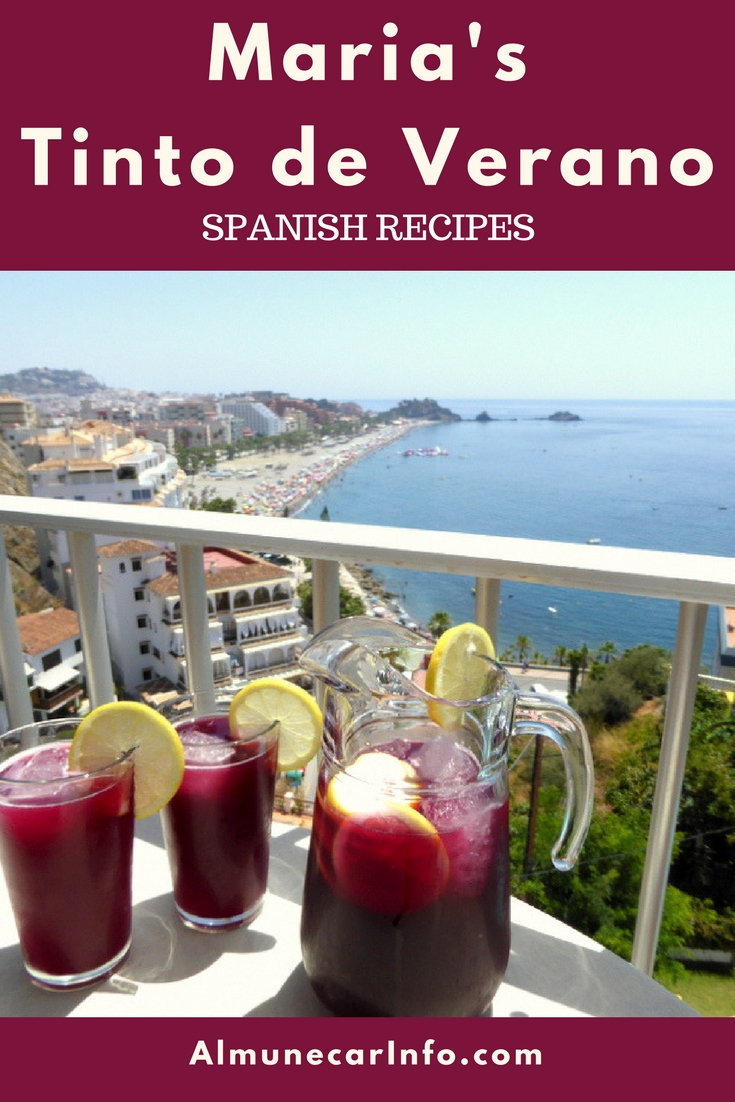 """Maria's Tinto de Verano is the perfect refreshment for those hot summer days. It's a refreshing wine-based cocktail, which translates as """"summer red wine"""". Read more on AlmunecarInfo.com"""