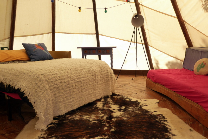 Glamping in Spain at the Nomad Xperience - tipi glamping in Spain