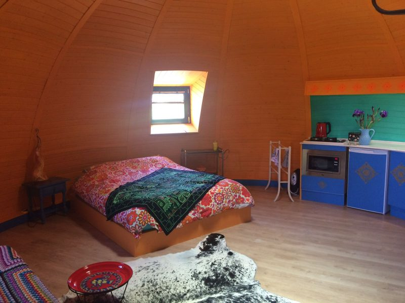 Glamping in Spain at the Nomad Xperience - igloo glamping in Granada