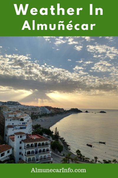 Weather in Almuñécar - el tiempo in Almunecar We love to rave about theweather in Almuñécar. We review each month in detail, so come see what we have to say about el tiempo enAlmuñécar. other languages väder Almunecar, météo Almunecar, Wetter Almunecar, sää Almunecar, weer Almunecar. Read more on Almunecarinfo.com
