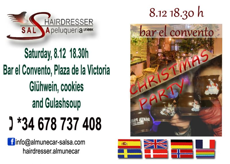 Salsa Hairdresser hosted Christmas party