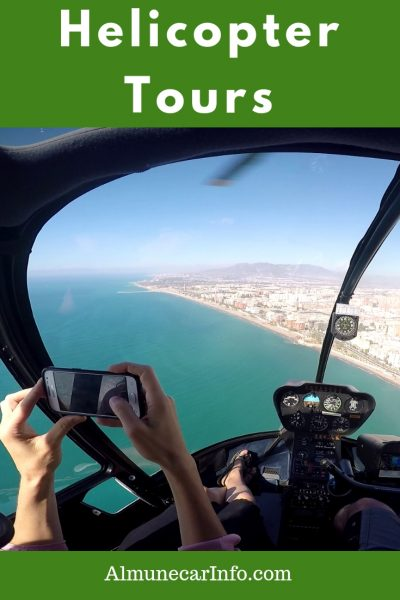 Get your camera ready! Take a helicopter tour in Costa del Sol. Do you have an adventurous side? Why not experience Spain like you never have before! Imagine flying over beautiful white villages in Andalucia or along the breathtaking coast and having that unique birds-eyeview. Treat yourself to a little luxury and take a helicopter tour! Read more on Almunecarinfo.com