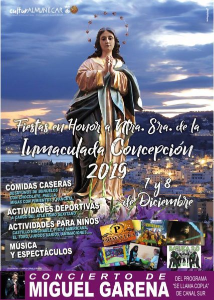 07-08 Dec Fiestas de La Carrera Immaculate Conception. We have compiled a list of things to do for 2018 Christmas in Almuñécar & La Herradura. Including events for January and Los Tres Reyes (The 3 Kings). holiday season Almuñécar & La Herradura. Read more on Almunecarinfo.com