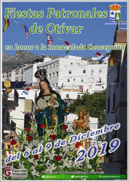Each December we can look forward to the Fiestas de Otivar, in honor of the Inmaculada Concepción (Immaculate Conception)! The village come alive, with events, music, lights, food, and fun.