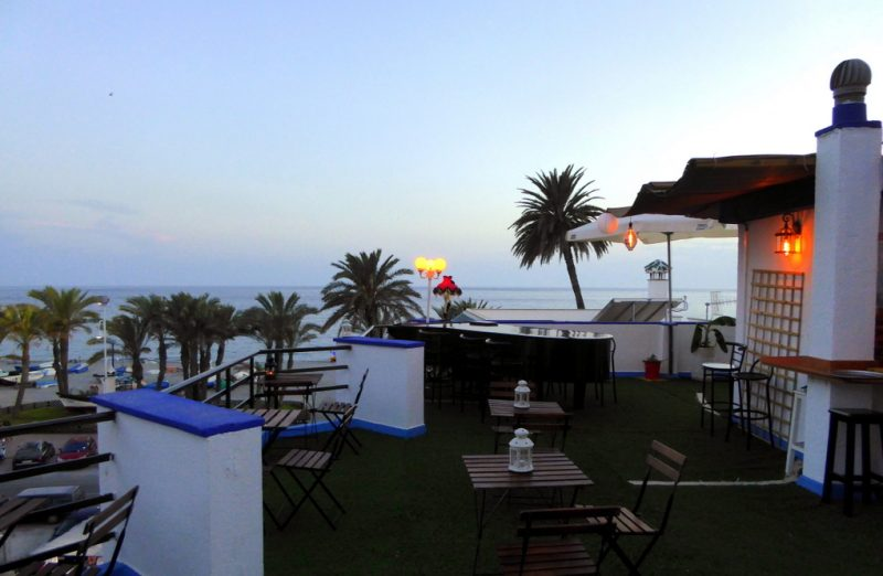 Bombay Sky Bar Perched up on the rooftop of Hotel Playa San Cristóbal - Read more on https://almunecarinfo.com/terrace-restaurants-sky-bar-rooftop-almunecar/
