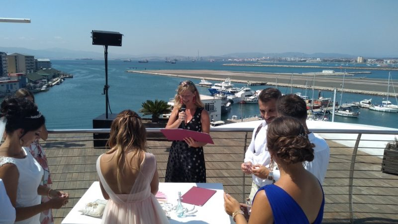 A civil marriage in Gibraltar, Read more on Almunecarinfo.com