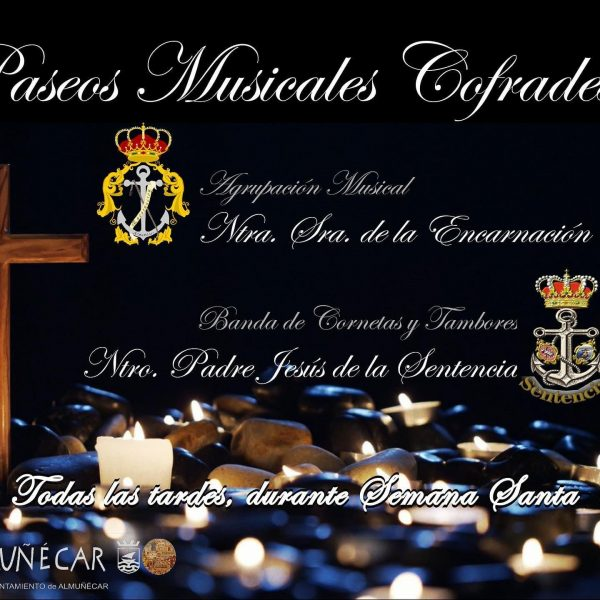 This Easter, don't worry, Almuñécar has everything. - March 28 Palm Sunday from 6:00 p.m., Band of Bugles and Drums Nuestro Padre Jesús de la Sentencia. - March 31 Holy Wednesday from 8:00 p.m., Musical Group Our Lady of the Incarnation. - April 1 Holy Thursday from 6:00 p.m., Band of Bugles and Drums Nuestro Padre Jesús de la Sentencia. - April 2 Good Friday from 5:00 p.m., Musical Group Our Lady of the Incarnation. - April 3 Holy Saturday from 6:00 p.m., Band of Bugles and Drums Nuestro Padre Jesús de la Sentencia. - April 4 Resurrection Sunday from 12:00 hours, Our Lady of the Incarnation Musical Group.