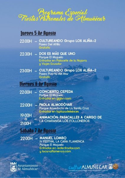 The Almunecar feria 2021 agenda and events, including fireworks on August 15th. Read more on AlmunecarInfo.com